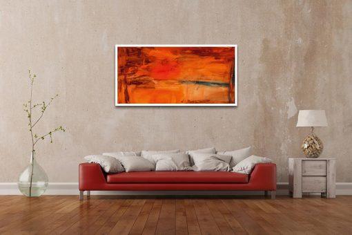 Ambientazione soggiorno Sfumature di un bagliore color arancio