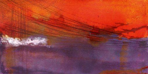 Tramonto astratto con nuvole color viola