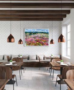 Ambientazione ristorante Campagna fiorita