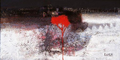 Rappresentazione astratta di un albero rosso