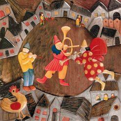 Musicisti nel cuore di un borgo medievale
