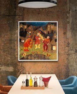 Ambientazione Musicisti che suonano in un borgo medievale