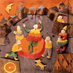 Spettacolo nella piazza di un borgo medievale