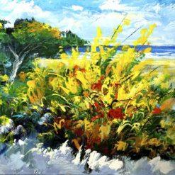Macchia mediterranea vicina a una spiaggia