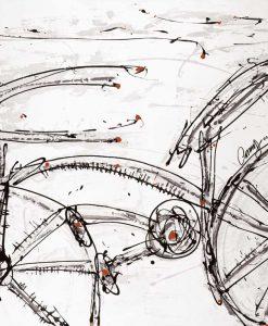 Dipinto con un disegno di una bicicletta