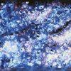 Galassia astratta dai colori freddi