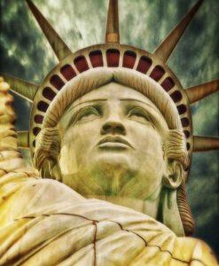 Dettaglio del volto della Statua della Libertà