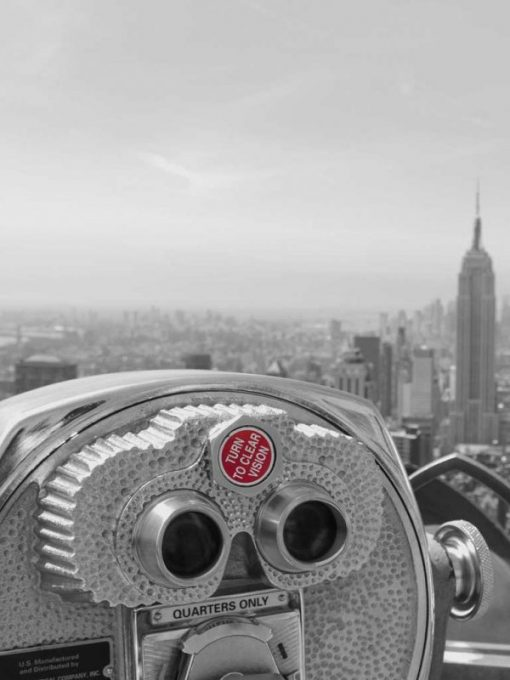 Binocolo per osservare il centro di New York