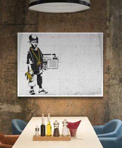 Murales del famoso artista Banksy: Bambino b-boy
