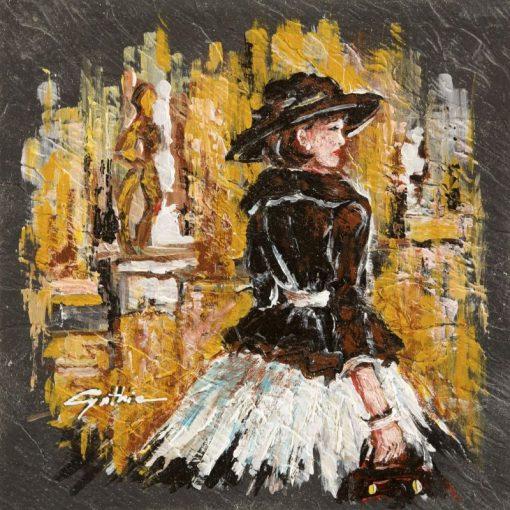 Dipinto astratto di una donna elegante