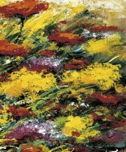 Terza parte di una composizione di dipinti di fiori su una spiaggia