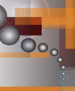 Dipinto astratto con sfere