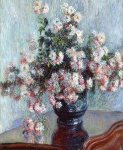 Ricco bouquet di crisantemi in un vaso