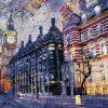Fotografia notturna di Londra con effetti colorati