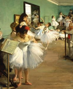 Una classe di danza con ballerine in tutù
