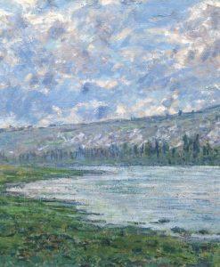 Dipinto di un fiume in campagna
