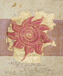 Composizione astratta del sole con messaggio scritto a mano
