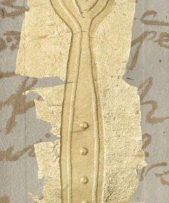 Forchetta dorata con effetto texture