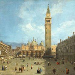 Vista della piazza di San Marco a Venezia in epoca rinascimentale