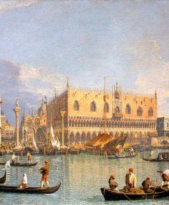 Il palazzo ducale di Venezia visto dal Canal Grande