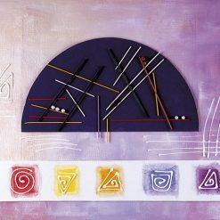Quadro moderno dalle geometrie astratte molto colorato