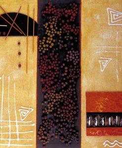 Quadro moderno colorato con decori astratti