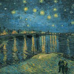 Quadro celebre cielo stellato sul fiume