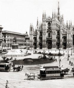 Milano Piazza Duomo 1897