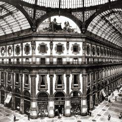 Foto antica - Milano Galleria Vittorio Emanuele 1905