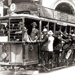 Milano Tram Edison Piazza del Duomo 26 Ottobre 1922