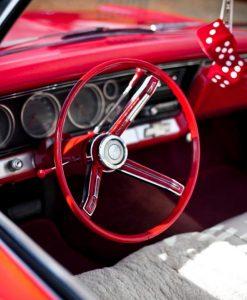 Interni vintage rosso fiammante