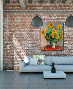 Ambientazione salotto Vaso con giraroli
