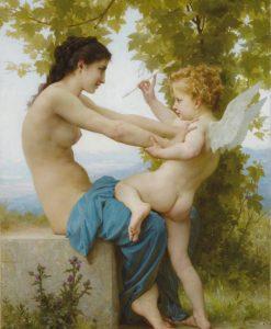 Ragazza che respinge Eros