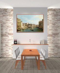 Dipinto del Canal Grande a Venezia in un momento tranquillo