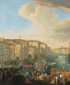 Canal Grande affollato per una regata