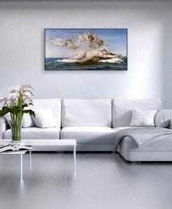 Ambientazione soggiorno Nascita della dea dal mare
