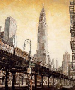Illustazione vintage del Chrysler Building