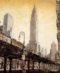 Illustazione vintage del Chrysler Building