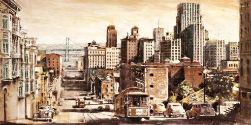 Illustrazione vintage di San Francisco