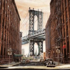 Vista del ponte Manhattan