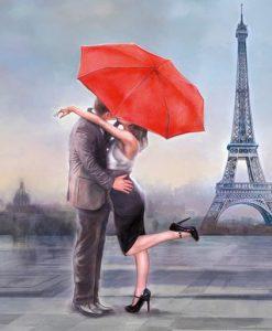 Bacio davanti alla Tour Eiffel
