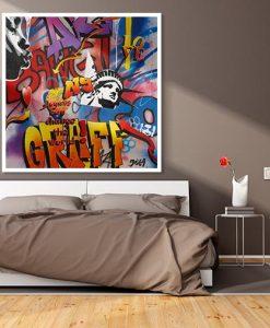 "Ambientazione Graffito newyorchese ""bang"""