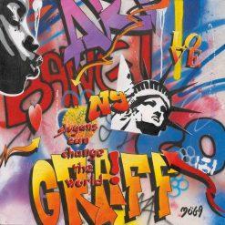 "Graffito newyorchese ""bang"""