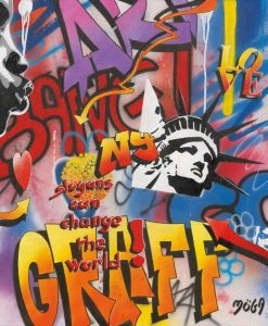 "Graffito newyorchese ""bang"""