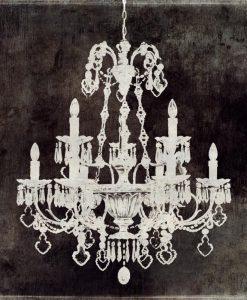 Sagoma di un lussuoso lampadario