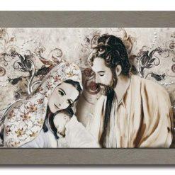Tema in rilievo - Decori materici in resina - Dettagli in foglia color argento