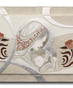 Tema in rilievo - Decori materici - Dettagli in foglia metallica e glitter color argento