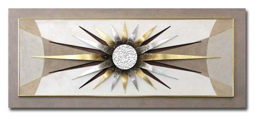 Tema in rilievo - Decori materici in resina- Dettagli in foglia metallica color argento