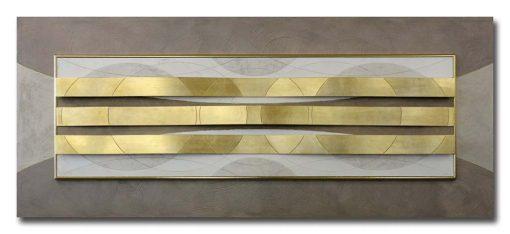 Tema in rilievo - Decori materici in resina- Dettagli in foglia metallica color oro