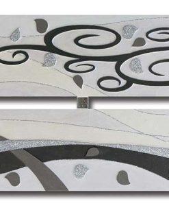 Tema in rilievo - Decori materici - Dettagli glitter color argento